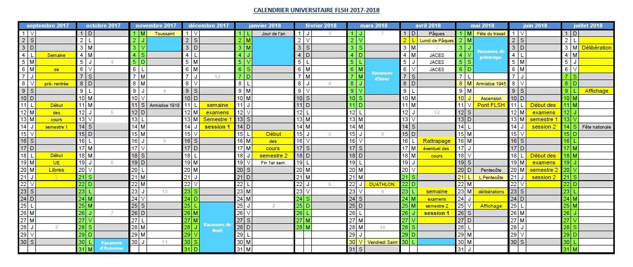 calendrier universitaire diderot 2018 2019