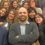 Roberto Saviano à la Librairie Kléber de Strasbourg, 17 octobre 2014. Les étudiants Erasmus Mundus CLE - Mulhouse accompagnés par Alessandra Locatelli, dans le cadre de son cours de littérature italienne.