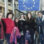 Visite du Parlement européen à Strasbourg avec les étudiants EM CLE de Strasbourg, 10 février 2012.