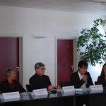 Le coordinateur Erasmus Mundus CLE de Mulhouse avec le vice-président aux Relations Internationales de l'Université de Haute-Alsace, ses étudiants et ses collaborateurs.
