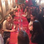 Les étudiants CLE (Licence 1-3 et Master 1-2) de l'Université de Haute-Alsace au dîner de fin d'année 2016 (29 novembre 2016, Mulhouse).
