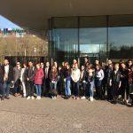 Les étudiants EM CLE et les étudiants du Master TST de l'Université de Haute-Alsace lors de la visite du Campus Novartis dans le cadre des activités CLE-HEAD (30 mars 2017,Bâle).