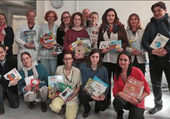 Les étudiants d'Agec ont offert des livres aux enfants au service de Pédiatrie Hôpital de Hasenrein, Mulhouse