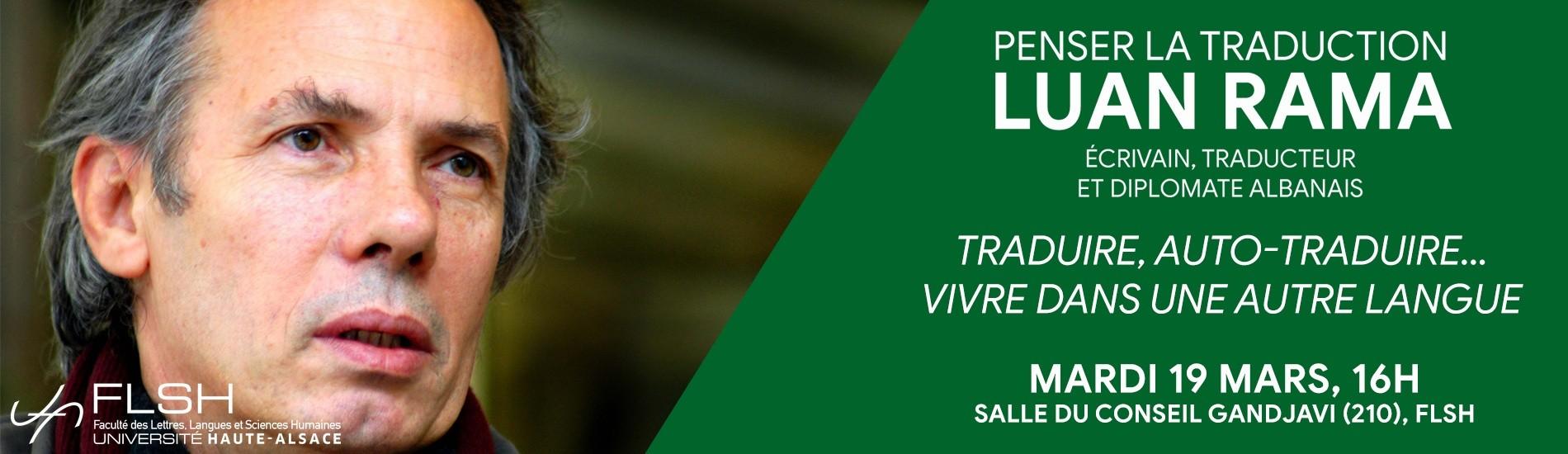 EVENT – Penser la Traduction – Luan Rama