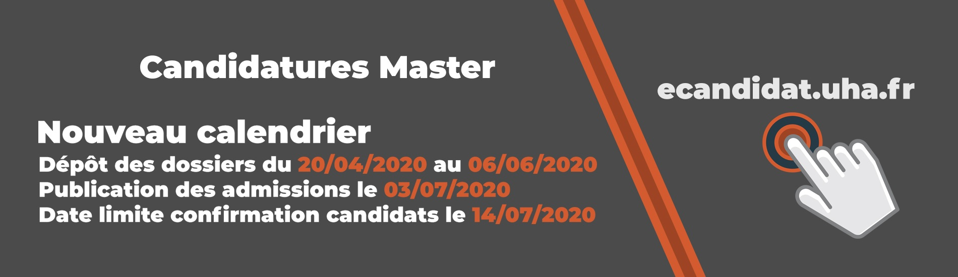 Candidatures Master 2020