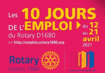Rotary Club – Les 10 jours de l'emploi du 12 au 21 avril 2021
